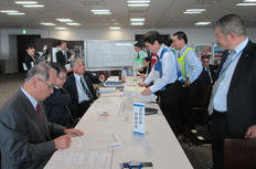 Corporate disaster response headquarters training