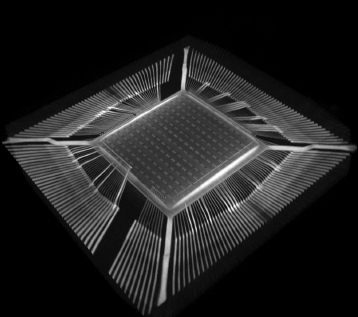 X ray transmission observation of electronic components