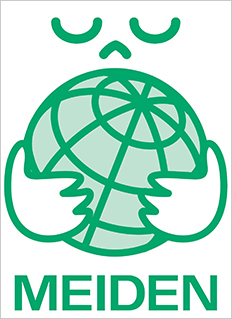 Environment label (type Ⅱ) indicating conformity with Meidensha Green Product standards
