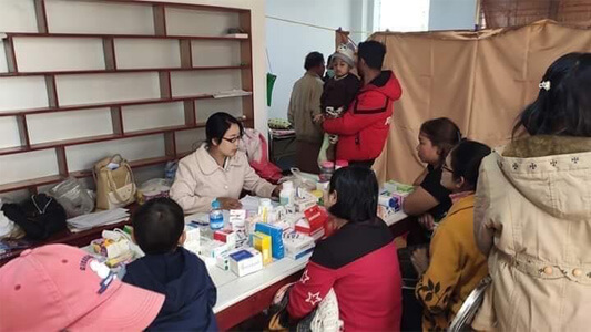 A view of a mobile clinic