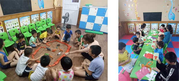 Children learning at the Education Center