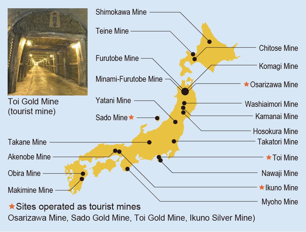 Abandoned Mitsubishi Materials (non-ferrous) Mines