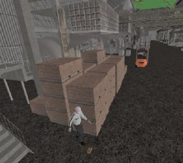 Forklift accidents(pedestrian moving backward)