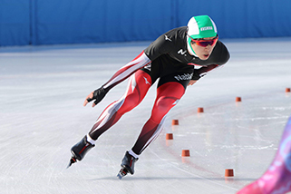 Speed skating at the National Athletic Meet