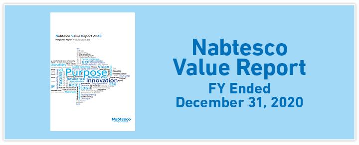 Nabtesco Value Report  FY Ended December 31, 2017