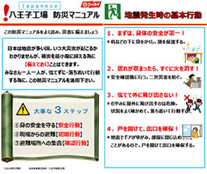 Disaster prevention manual in Japanese