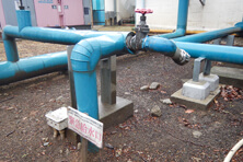 Emergency feed-water valve in Hachioji General Plant