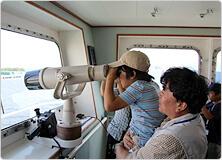 【写真】海洋調査船「かいれい」に乗船