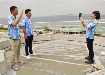 【写真】東シナ海が見える屋外手レスから、バックヤード・オンライン・ツアーをスタート