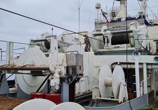 【写真】エムデペス社のAutomatic Trawl Winch