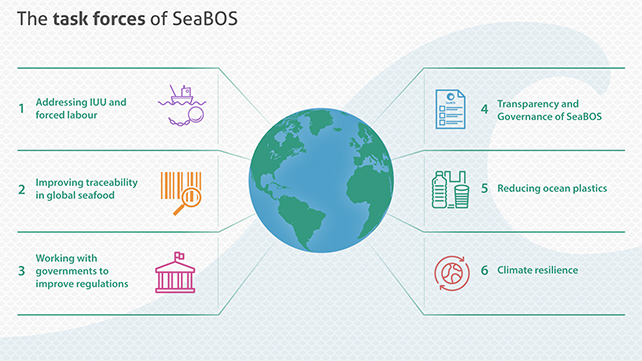 The Task Forces of SeaBOS (From SeaBOS materials)