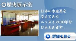 歴史展示室 日本の水産業を支えてきたニッスイの100年をひもときます。 詳細を見る
