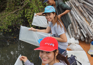 Mangrove Reforestation and Release of Juvenile Fish and Crab