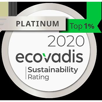 GOLD 2019 ecovadis CSR Rating