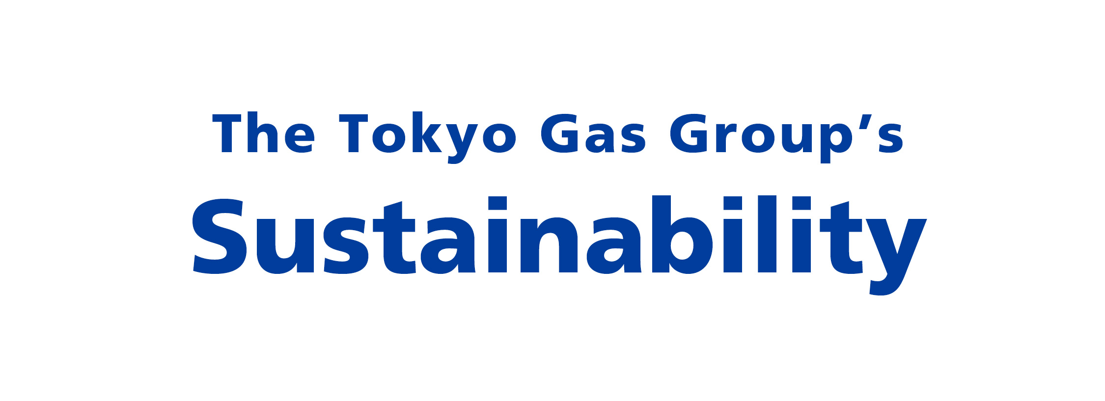 The Tokyo Gas Group's Sustainability