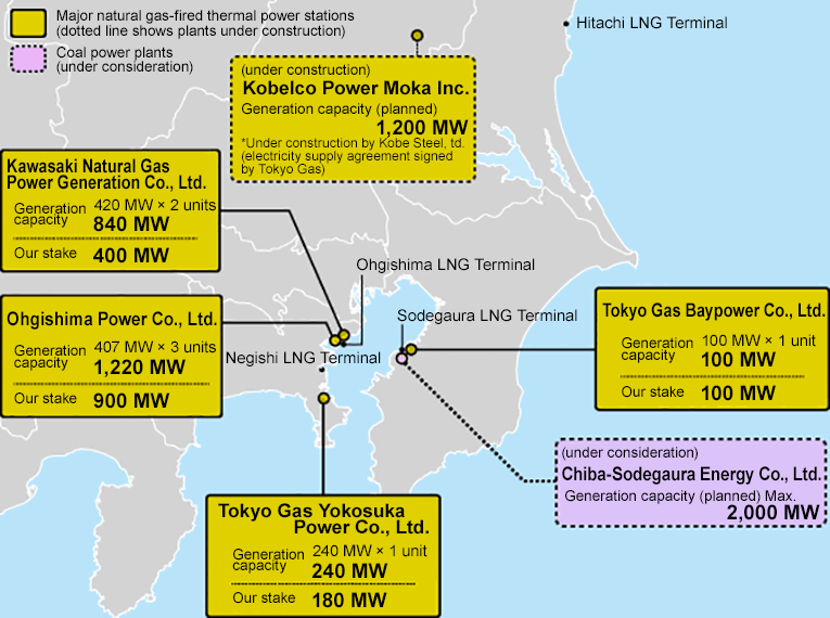 The Tokyo Gas Group's Electricity Supply Infrastructure (as of June 2017)