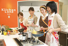 A cooking class using the latest model gas cooking stove