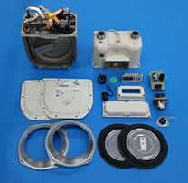 Disassembled gas meter