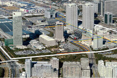 The Makuhari New City area is provided with district air-conditioning and heating services