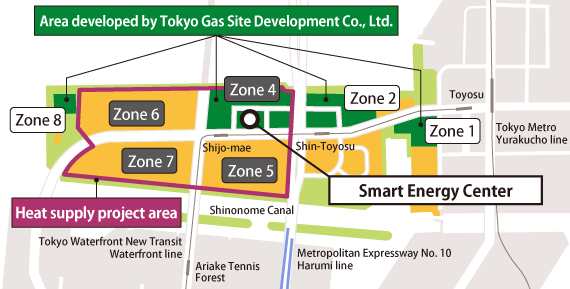 Toyosu Wharf District Development Area