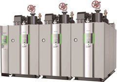 Multiple installation of small once-through boilers