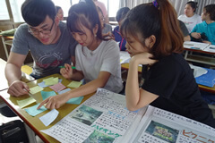 Japanese language majors in Ba Ria-Vung Tau University's Faculty of Oriental Studies attending class