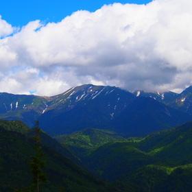 春の御嶽山