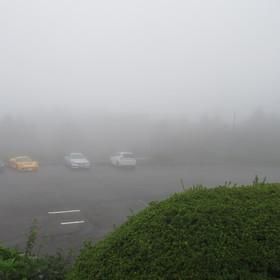 ▲2/27 濃霧で先行き不安な天気