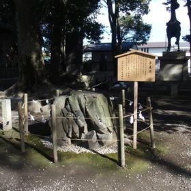 清洲山王宮日吉神社・子産石は豊臣秀吉は清洲町朝日の出身である生母(大政所)がこの子産石に触れ祈願した