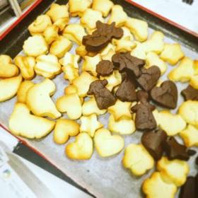 厨房さん企画!入居者様とクッキー作り❤