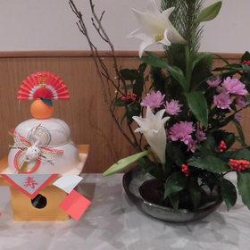 鏡餅・正月用の生け花