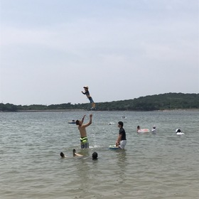 海水浴シーン