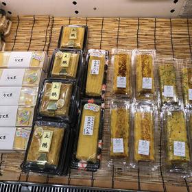 左より厚焼き玉子サンド・玉鵬、関西風出し巻き、出し巻き、あおさ入り出し巻き