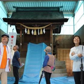 神明社 拝殿の内部