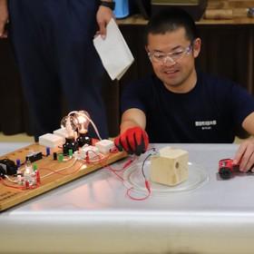 電気器具による火災発生実験