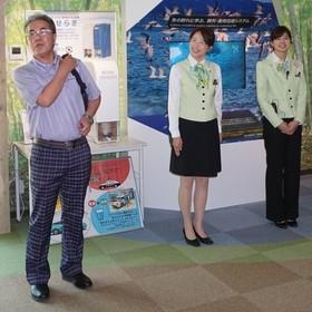 環境部長の藤原さん、案内の長野さん、大田さん