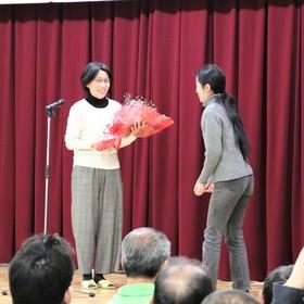 退職される永田さんへ花束贈呈