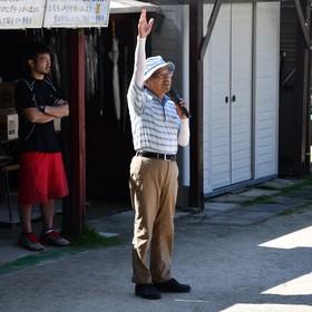 マレットゴルフ開会式/西部さん挨拶