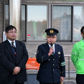 豊田警察署地域課警部補 鈴木さん挨拶