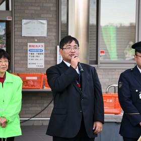 豊田市役所交通防犯課 前利さん挨拶