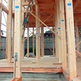 在来軸組工法建築現場(2)