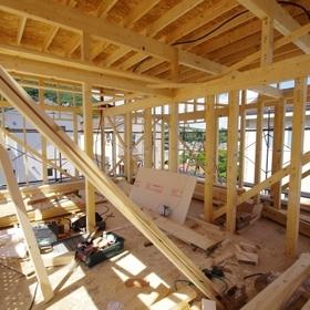 在来軸組工法建築現場(3)