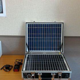 ソーラーパネル付きポータブルバッテリー