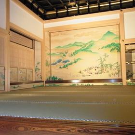 風俗図(対面所 上段之間西側床の間 壁貼付絵)