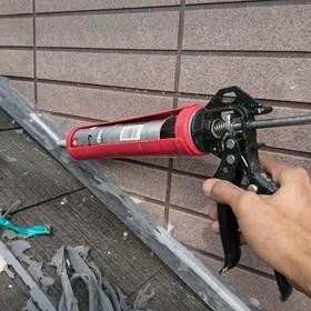 下屋根とりあいコーキング撤去打ち替え