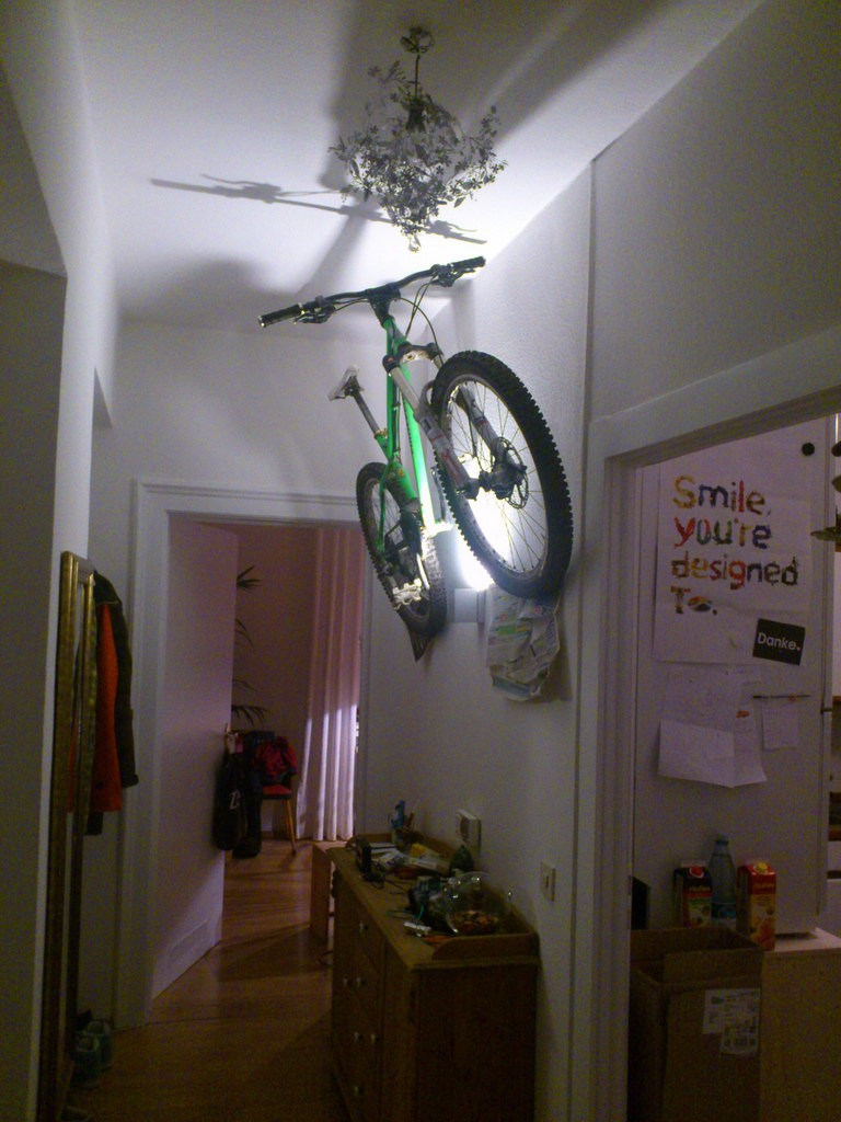 SingleTrack~What's the Verdict on Hanging Bikes off the Wall?
