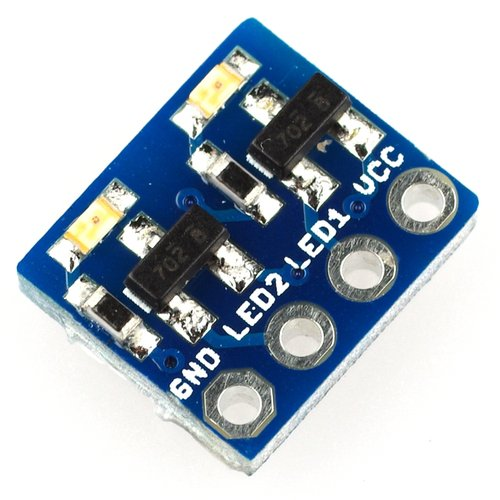 2ch LED simple signal monitor using FET