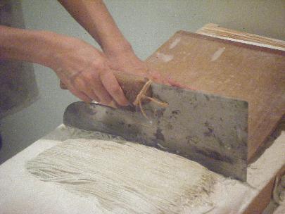 石臼挽き自家製粉の二八手打ちそば
