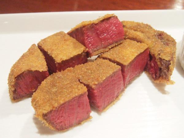シャトーブリアンのビフカツ等肉料理も多数