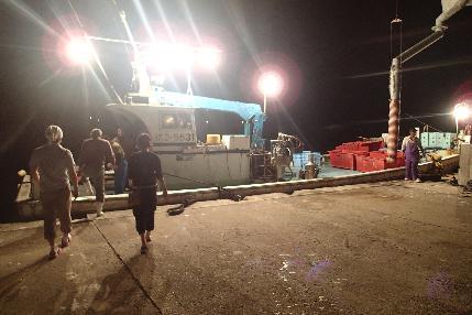 (1)AM2:00 漁師さんと漁にでます